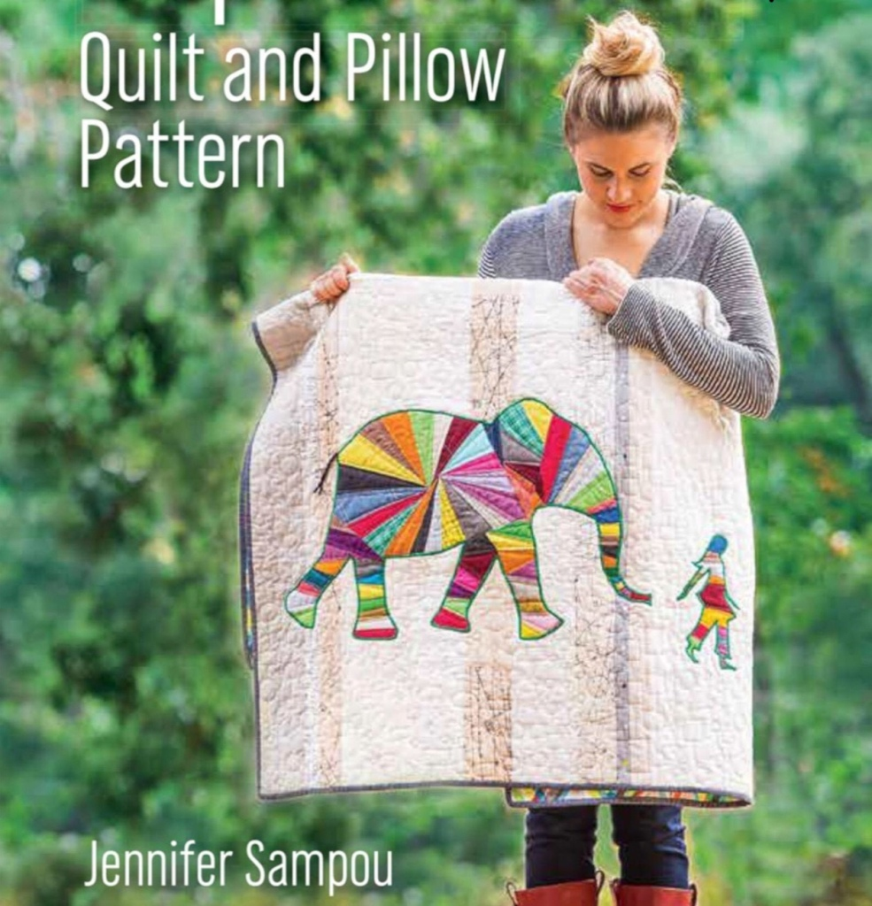 ELEPHANT and I Quilt with Pillow Pattern By: Jennifer Sampou image 0